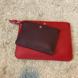 Tory Burch Duo Multi-Color Leather Clutch
